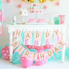 Pastel Gold Pink Happy Birthday Bunting Flag Banner - Party Decoration Supplies, http://www.amazon.com/dp/B01KFN74SC/ref=cm_sw_r_pi_awdm_x_J--YxbQ9ZXV4D