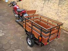 Bike Trailer -- Tough and Light Bike Cargo Trailer, Off Road Camper Trailer, Trailer Diy, Motorcycle Trailer, Cargo Bike, Velo Tricycle, Three Wheel Bicycle, Bicycle Sidecar, Bike Hitch