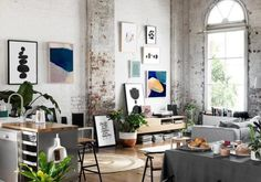 Today, the loft style belongs to the elite and is more often used in remaking factory premises for expensive housing. - Today, the loft style belongs to the elite and is more often used in remaking factory premises for - Home Design, Modern Home Interior Design, Apartment Interior Design, Interior Decorating, Decorating Ideas, Salon Design, Decor Ideas, Scandinavian Interior, Design Design