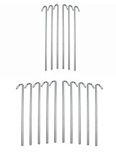 Set of 16 pcs 95 Outdoor C&ing Trip Hiking Round Tent Pegs Stakes Nail Silver Hook  sc 1 st  Pinterest & A 24 pack of White Wedding Tent Stakes Steel18 Long * Details can ...