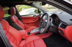 Porsche Macan Red n Black Interior