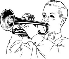 Children interested in musical instruments or music in general will enjoy this Boy with Cornet Coloring Page. The cornet is an instrument very similar to the… Coloring Pages For Kids, Coloring Books, Kids Coloring, Yoshi Island, Boy Music, Png Photo, Colour Board, Electronic Music, Free Pictures