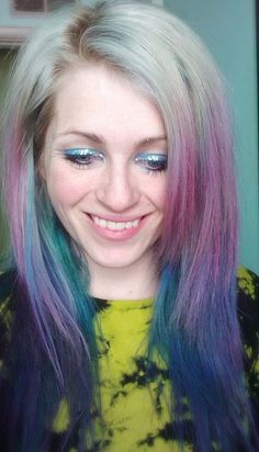 photo by ugg-off, via Flickr. Silvery, lavender, and turquoise hair I had in early 2011. This was how my hair looked after my color had faded from cobalt blue. I was pleasantly surprised.