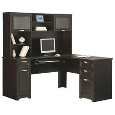 Realspace Broadstreet Contoured UShaped Desk 30H x 65W x 28D