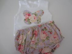 this baby singlet and nappy pants are a size 69 by fourlittlegirls, $27.00