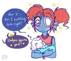 Undyne and Asriel 1/4