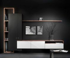 Modern Living Room Shelves - Our designers will design for you a design project for a stylish living room. Tv Unit Decor, Tv Wall Decor, Living Room Shelves, Living Room Decor, Living Rooms, Tv Wall Design, House Design, Design Design, Tv Wanddekor