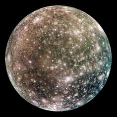 Callisto Moon Surface   Jupiter's moon Callisto has a surface that includes water ice, carbon ...