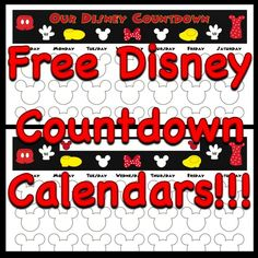 Free, printable countdown calendars to use for your next Disney trip