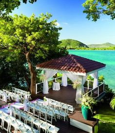 The Ritz-Carlton, St. Thomas, U.S. Virgin Islands offers a stunning wedding ceremony backdrop!