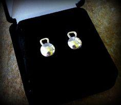 Kettlebell crossfit stud earrings by DesignsByDomino on Etsy, $29.00
