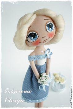 Верунчик - голубой,девочка,вера,интерьерная кукла,кукла,кукла ручной работы