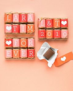 DIY Wedding Favors To Craft For Valentine's Day Or Any Romantic Day - Miniature Love Candy Bars