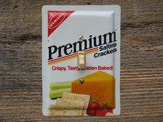 Light Switchplates Single Switch Plate Cover Switchplate Made From An Old Vintage Lighting Nabisco Premium Crackers Tins SP-0148 by tincansally on Etsy https://www.etsy.com/listing/175643558/light-switchplates-single-switch-plate