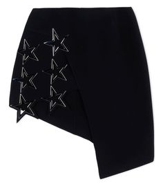 Anthony Vaccarello Asymmetric Embellished Mini Skirt