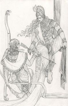 Shiva Art, Krishna Art, Hindu Art, Ink Illustrations, Art Drawings Sketches, Illustration Art, Game Character Design, Character Sketches, Lord Shiva Sketch
