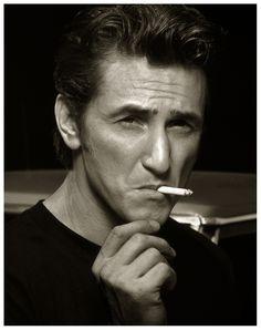 Sean Penn, Details, Malibu, 1995 by Albert Watson. Sean Penn, you are king. Sean Penn, Thank You For Smoking, Beautiful Men, Beautiful People, Don Corleone, People Smoking, Men Smoking, Looks Black, Best Actor