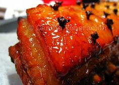 Pork hamonado is cooked liked ham but sweetened with fruit juice — pineapple juice, most often, although other juices may be substituted.