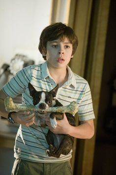 Jake T. Austin and the Boston Terrier I loved the bostons in this movie