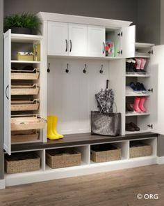 Entryway Storage & Organization #entry #hiddenstorage