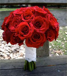 Romantic Red Roses wrapped in Lace from the Bride's Gown, Garden on the Square #wedding #savannahgawedding