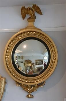 love this bright regency convex mirror