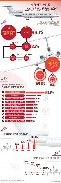 대한항공·아시아나 등 대형 항공사 소비자 최대 불만 '비싼 항공요금' [인포그래픽]  #airfee #Infographic ⓒ 비주얼다이브 무단 복사·전재·재배포 금지