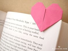 origami paper heart page marker @ bloomize.com