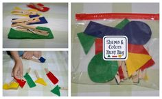 Shapes and Colors Busy Bag - games for both preschoolers and toddlers!