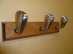 Golf Themed Oak Coat Rack on Etsy, $39.99