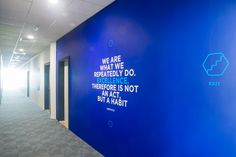 Corporate wall mural for SIG Obeikan office in Dubai.
