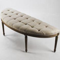 Zentique Inc. Louis Curve Upholstered Bench & Reviews   Wayfair