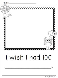 100th Day of School Writing Prompts **FREEBIE!!