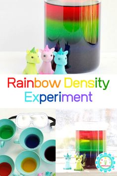 What do unicorns eat? They eat sugar rainbows! Learn how to make your own sugar rainbow density tower in this experiment inspired by Zoey and Sassafras. Stem Projects For Kids, Science Projects For Kids, Science For Kids, 5th Grade Science Experiments, Science Experiments For Preschoolers, Stem Activities, Activities For Kids, Density Tower, Sugar