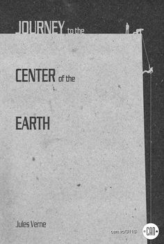 Journey to the Center of the Earth | 25 Beautifully Redesigned Classic Book Covers