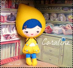 PDF. Coraline doll .Plush Doll Pattern Softie Pattern door Noialand, $6.50