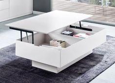 Mesa de centro Sombra, un plus de espacio para organizar y no encontrarte cosas por medio.
