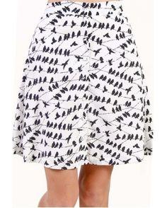 Birds on the Line Skirt