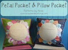 pillow pocket & petal pocket fra http://acuppaandacatchup.com/pillow-pocket-petal-pocket-pattern/