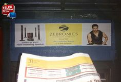 We done window top transfer campaign for Zebronic Electronic goods  in Mumbai local trains.