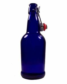 16oz Cobalt Blue Bottles EZ Cap Flip Top Home Brewing Growlers (2 Bottles) by dsb. $11.95. Also known as Growlers, these Swing Top Bail Wire Glass Bottles are very stylish. Bail wire is constructed of heavy-duty, zinc-plated steel wire. Stopper is constructed of solid plastic with a food-safe rubber seal.  No need for caps or a capper with these flip cap bottles.  Re-usable gasket /cap assembly snaps firmly into position by means of a wire cam. Great for not onl...
