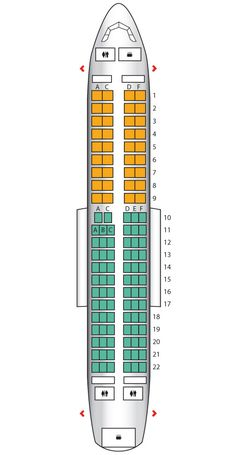 Seat plan for the #BritishAirways A319