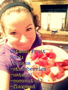A P90X3 approved breakfast that is whole, tasty, and keeps you FULL!  Check out my blog for the recipe and feel free to follow me and share! Oatmeal With Fruit, Strawberry Oatmeal, P90x3 Recipes, Paleo Recipes, Eat Breakfast, Breakfast Recipes, Healthy Sides, How To Eat Paleo, Easy Snacks