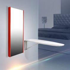 Aynalı Ütü Masası/Dikdörtgen/Parlak Kırmızı