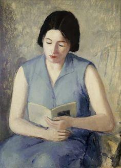 1929 Donna Che Legge by Virgilio Guidi