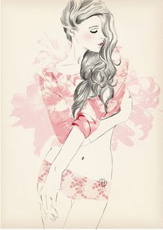 virgo for Elle Horoscope by Sandra Suy - Pencil, Watercolor illustration. Fashion, Beauty
