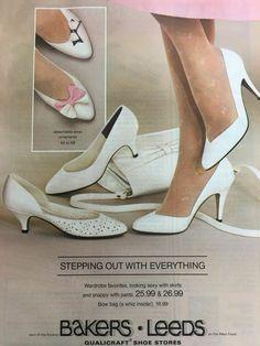 Vintage High Heels, Vintage Shoes Women, Vintage Outfits, Retro Heels, Vintage Clothing, 80s Shoes, Shoes Ads, 1960s Fashion, Vintage Fashion