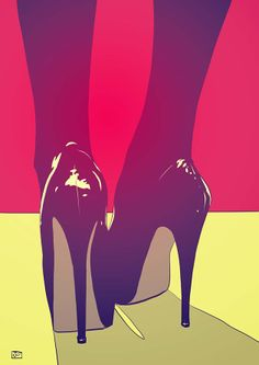 Shoes Print By Giuseppe Cristiano Shoes art print by Giuseppe Cristiano. Our prints are produced on acid-free papers using archival inks to guarantee that they last a lifetime without fading or loss of color. All art prints include a 1 Art Pulp, Illustrator, Art Watercolor, Illustration Mode, Inspiration Art, Art Graphique, Shoe Art, Art Shoes, Blue Aesthetic