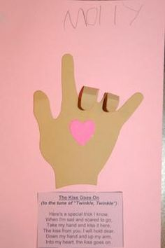 The Kissing Hand Craft - awesome back to school ideas