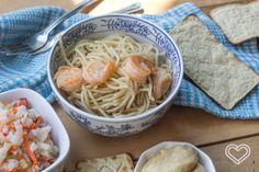 Receta Spaguetti con Camarones // Home, Delicious Home!